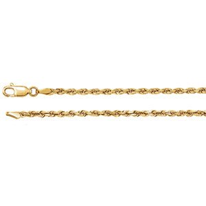 14kt Gelb 2,5mm Diamond Cut Rope 24