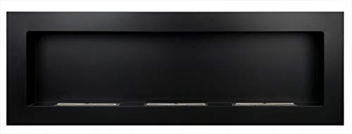Bio Ethanol Fireplace - 1200 x 400 Black