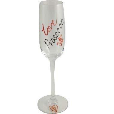 Amour Prosecco Flûte à Champagne (Rouge/Noir)