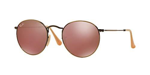 Ray Ban Unisex Sonnenbrille RB3447, Gr. Medium (Herstellergröße: 50), Mehrfarbig (Gestell: bronze/kupfer, Gläser: rot verspiegelt 167/2K)