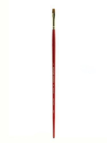 Winsor & Newton Sceptre Gold Pinsel - Serie 505, kurz Flachpinsel / Breitpinsel, langer Stiel - Nr. 8 - 7 mm