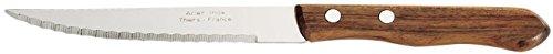 LE COUTEAU DU CHEF 404860 Steak Manche Bois, Acier Inoxydable, 23,3 x 2,4 x 1,8 cm