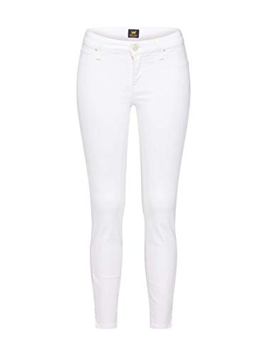 Lee Damen Scarlett Cropped Skinny Jeans, Elfenbein (Off White Ew), W27/L31