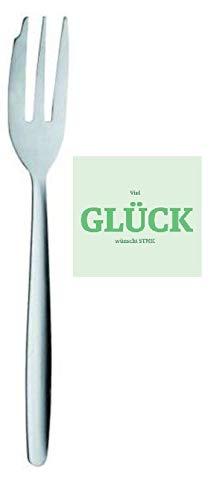 12 STÜCK KUCHENGABEL KUCHENGABELN Edelstahl Kuchen Cake Fork + gratis Glück Aufkleber!