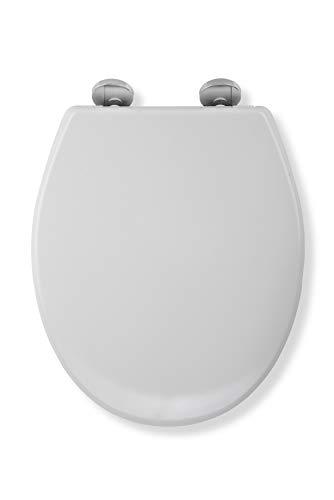 Croydex Flexi-Fix Constance immer passt nie gleitet langsam schließender WC-Sitz, weiß, 43x 38x 5cm (Langsam, Wc-sitz)