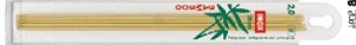 Prym 20 cm X 2,50 mm à tricoter à bouts pointus en bambou,