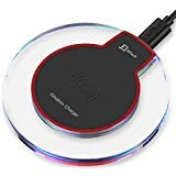 Wireless Charger, JETech Ultra-Slim Wireless Charging Pad for Samsung S7 / S6 /