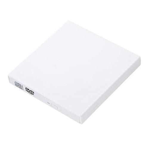 Externes DVD-ROM-Laufwerk USB 2.0 CD/DVD-ROM CD-RW-Player Brenner Schlanker tragbarer Reader-Recorder Portatil für Laptop,White