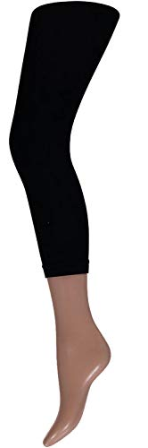 krautwear Damen Mädchen Leggins Leggings 60 den Karneval Fasching Kostüm schwarz rot rosa blau (schwarz-LXL)