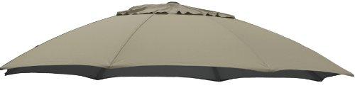 Sun Garden Ersatzbezug zum Easy, meliert, 100 prozent Polypropylen, Stoff B056, Durchmesser 375 cm, beige