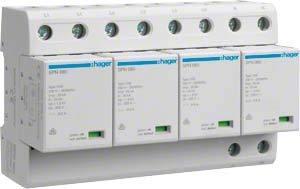 Hager Überspannungsableiter SPN801 4P steck. 100kA Kombi-Ableiter für Energietechnik 3250615660923