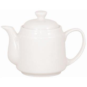 4X Athena Hotelware Beverage Pots 15oz 430ml Porcelain White Tea Coffee Server