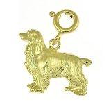 CleverEve 14K Yellow Gold Pendant Cocker Spaniel Dog 1.9 Grams