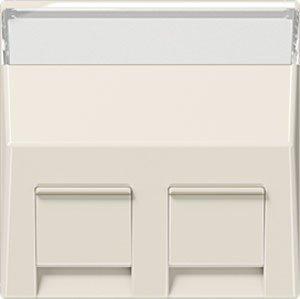 Jung A569-30BFPL-Platte mit Steckdosenleiste Schriftzug für Adapter 30° Weiß Elfenbein -