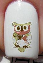 Hibou vintage de jardin - Stickers pour ongles YRNAILS