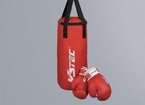 V3Tec Boxset Junior Boxsack inkl. Boxhandschuhe Handschuhe Box Set Kinder rot