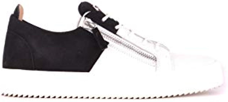 newest 17975 c369e giuseppe zanotti mcbi362018o conception des hommes blancs et noirs noirs  noirs des chaussures de tennis b07hggzkqc