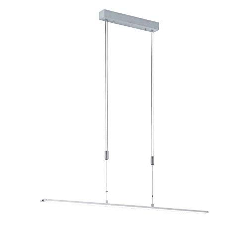 Hängeleuchte SHINE-LED, Aluminium matt, höhenverstellbar & dimmbar, Länge 120 cm, Fischer Leuchten