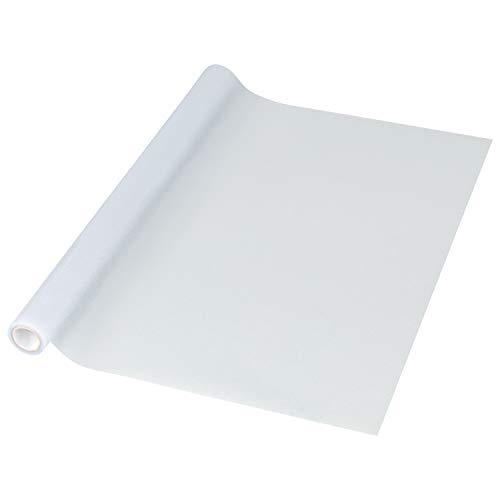 1PLUS Fensterfolie Milchglasfolie, SELBSTKLEBEND, statisch haftend, Sichtschutzfolie Blickschutzfolie für Fenster, Tür, Glas-Trennwand für Küche Bad und Büro (45 x 200 cm, Milchglas)