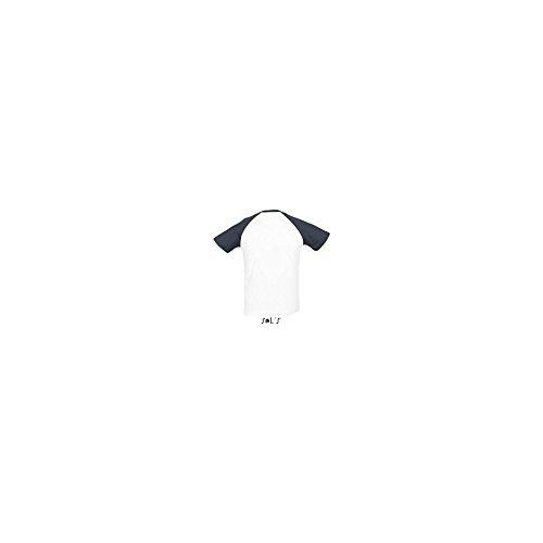 tshirt-madeleine -  T-shirt - Donna Bianco/Navy