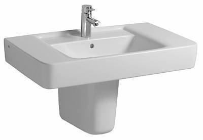Keramag Renova Nr.1 Plan Waschtisch 850x480 mm mit Hahnloch und Überlauf