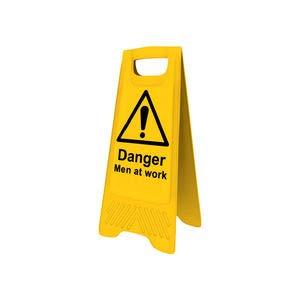 """Preisvergleich Produktbild Sitesafe Warnzeichen""""Danger Men at Work"""" A-Aufsteller 620 mm x 300 mm schwarz gelb"""