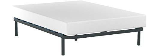 HOGAR 24 Mehrschichtige Bettbasis mit Lendenwirbelregulatoren - 135 x 190 cm - BEINE (5 enthalten), Buche, 135 x 190 cm - Beine 26 cm