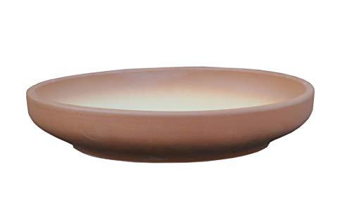 Hentschke Keramik Brunnen-Schale Pflanzschale absolut Wasser-dicht frostfest Ø 35 x 7 cm Terracotta 038.035.19 ohne Boden-Loch (Untersetzer Keramik-blumenkübel Mit)