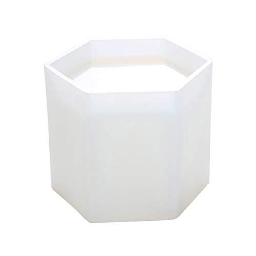 Yalulu Groß Stiftebox DIY Silikon Schmuck Mold Basteln Aufbewahrungsbox Topfkasten Gießform Silikonform (Sechseck)