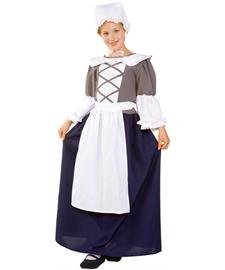 RG Costumes Colonial Peasant Girl, Child Medium/Size 8-10 by RG ()