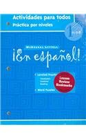 ¡en Español!: Actividades Para Todos (Workbook) with Lesson Review Bookmarks Level 1 [With Lesson Review Bookmarks] (McDougal Littell)