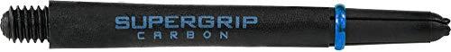 Harrows Supergrip Carbon Schäfte - 5 Sets (15 Stück), Black/Aqua, m