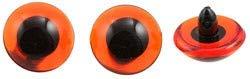EFCO Animal 's Augen Loop, Kunststoff, 2-piece-p, plastik, braun/schwarz, 14 mm,  2-Piece -