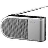 Sony All in One Compact Design Pocket Size Portable AM/FM Radio with Built-in