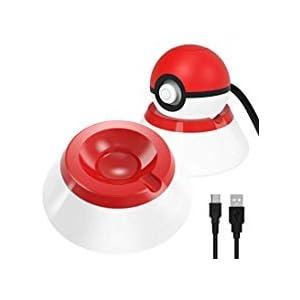 OIVO Ständer mit Ladekabel, Typ C, kompatibel mit Nintendo Switch Poke Ball Plus Controller, 2 in 1 Zubehörset, kompatibel mit Nintendo Pokémon Lets Go Pikachu Eevee Game Controller
