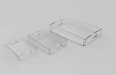 PlexCollection Plateau de Rangement en plexiglas Transparent 3 pièces
