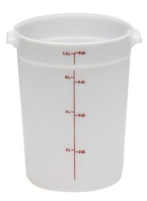 Cambro RFS8148 White Poly Round 8 Qt Storage Container by