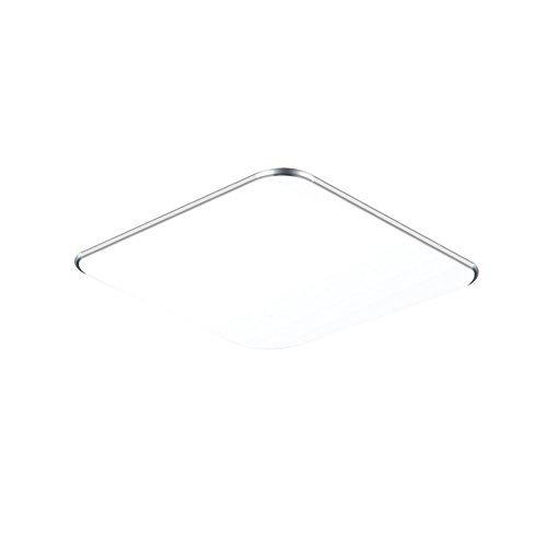SAILUN 24W Ultra mince LED Blanc Froid Plafonnier Lampe Moderne Lampe de Plafond pour salon, Cuisine, chambre à coucher, Hôtel - Argenté