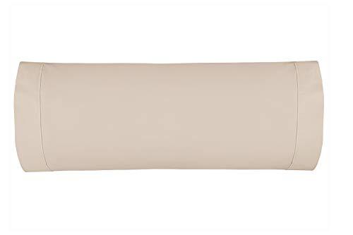 Burrito Blanco Atelier Funda de Almohada 180 Hilos de Algodón de 45x155 cm/Funda de Almohada para Cama...