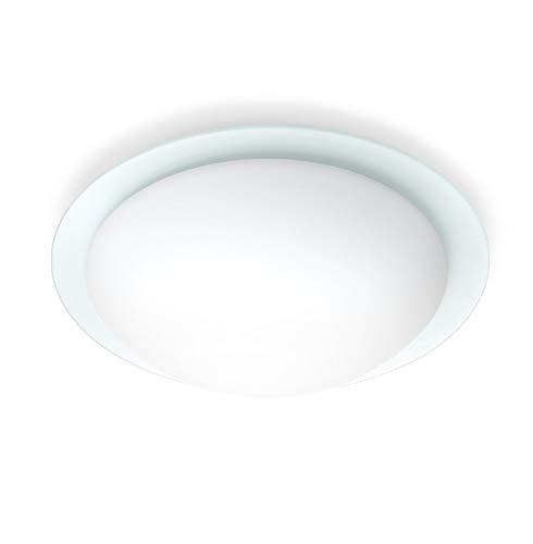 Steinel 730819 RS 13 L Innen-Sensorleuchte für Wand- und Deckenmontage im Wohnbereich, weiß, Bewegungsmelder mit Sensortechnik, energieeffizient, 75W, Hochfrequenz, unsichtbarer Sensor, IP44, Opalglas, Aluminiumchassis