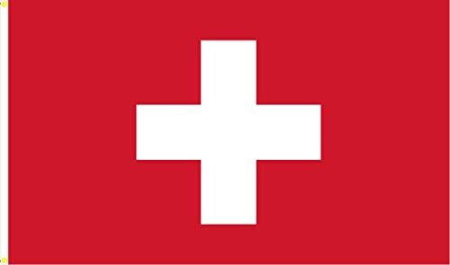 BGFint Schweiz Flagge Fahne Switzerland 150x90cm Stoff 100g/qm
