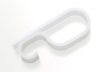 GEV Dachrinnenhaken LRV 20849, Plastik, transparent, 2,5 x 1,4 x 6,3 cm