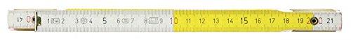 KS Tools 300.0063Mètre pliant en bois, blanc/jaune, 2m pas cher