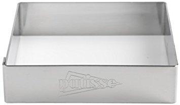 Patisse 2150 Tortenring-Set Edelstahl 18/8 quadrat mit Rand, 4 teilig