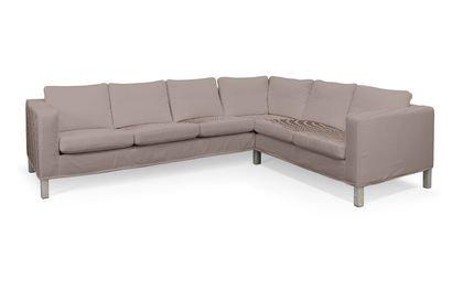 Cover for IKEA KARLANDA Corner Sofa Short Cover Right in Florence by Chevy Saustark Design Beige-White