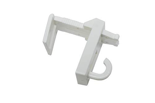 Non Applicable Gardinia Embouts pour Tringle /à Rideaux en Plastique GE1 1 Paire Blanc