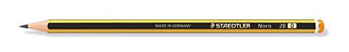 Staedtler Noris 120-0 – Lápices de Madera Certificada, Pack con Doce Lapiceros de Grafito 2B