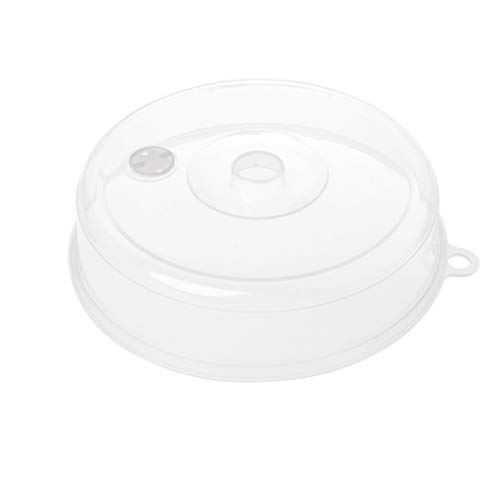 GROOMY Kunststoff Mikrowelle Platte Abdeckung Klar Dampf Vent Splatter Deckel Futternapf Küche Werkzeuge-L -