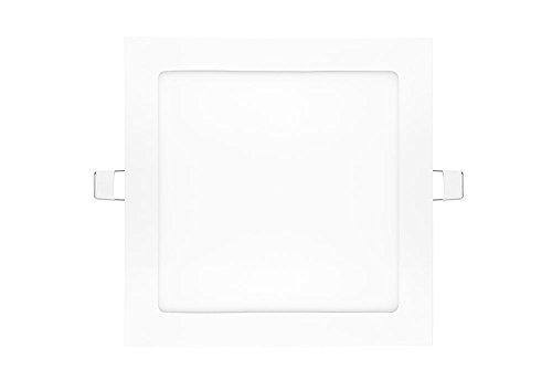 NuLoXx LED Panel Square 24W/760 6000K kaltweiß (Tageslicht) 1800LM AC 80…260V, 120° Abstrahlwinkel, Einbau-Deckenleuchte quadratisch ersetzt 60 Watt