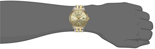 GROVANA 1568.1141 Men's Quartz Swiss Watch with Gold Dial Analogue Display and Two-Tone Stainless Steel Bracelet